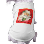 Vintage Winking Jolly Santa Claus Doggie T Shirt