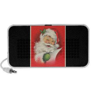 Vintage Winking Jolly Santa Claus -Doodle Speakers