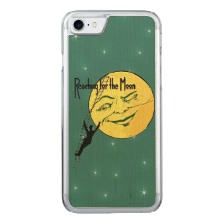 Vintage Winking Moon Man Ladder Reach for Moon Carved iPhone 8/7 Case
