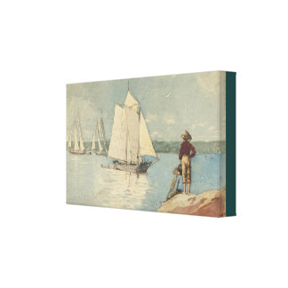 Vintage Winslow Homer Clear Sailing Canvas Print