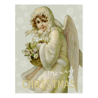 Vintage winter angel CC0621 Christmas Postcard