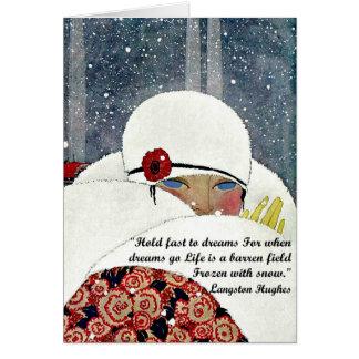 Vintage Winter Fashion Greeting Card