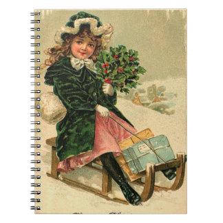 Vintage Winter Fun Notebook