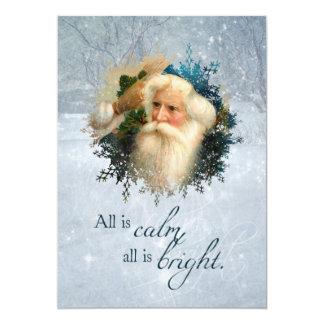 Vintage Winter Santa Card
