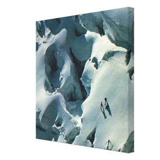 Vintage Winter Sport Poster, Ascending Mount Blanc Canvas Print