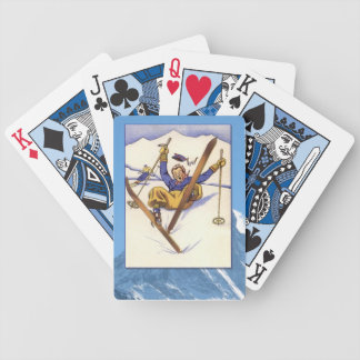 Vintage Winter Sports - A bit of a tumble Bicycle Playing Cards