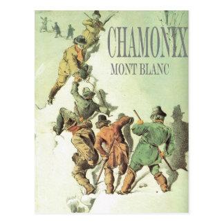 Vintage Winter Sports, Chamonix, Mt Blanc Postcard