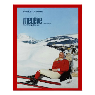 Vintage Winter sports, France, Savoie, Megeve Poster