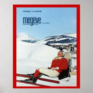 Vintage Winter sports France Savoie Megeve Posters