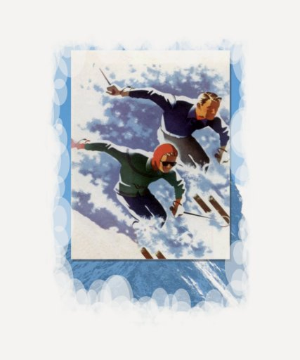 Vintage Winter Sports - Racing down the mountain Tshirts