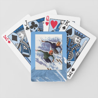 Vintage Winter Sports - Racing downhill Bicycle Playing Cards