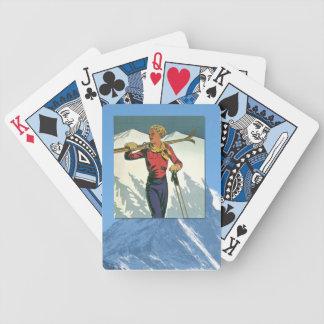 Vintage Winter Sports - Ready to ski Poker Deck