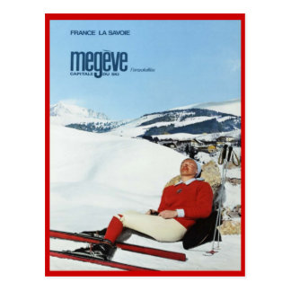 Vintage Winter sports, Ski France, Savoie, Megeve Postcard