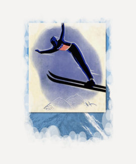 Vintage Winter Sports - Ski jumper Tee Shirt