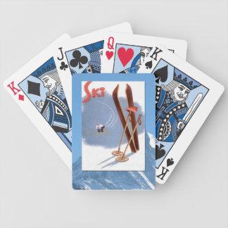 Vintage Winter Sports - Ski kit Bicycle Playing Cards