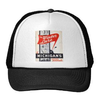 Vintage winter sports ski poster trucker hats