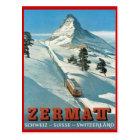 Vintage winter sports, Ski Zermatt, Switzerland Postcard