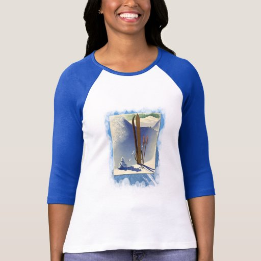 Vintage Winter Sports - Skis and slopes Tshirt