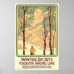 Vintage Winter Sports Travel Poster