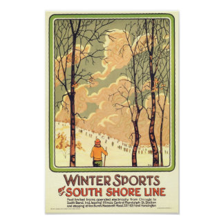 Vintage Winter Sports Travel Poster