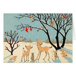 Vintage Winter Wonderland Christmas Card