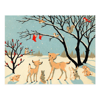 Vintage Winter Wonderland Postcard