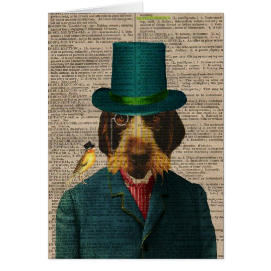 Vintage Wirehaired Pointing Griffon Notecard