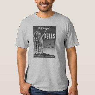 Vintage Wisconsin Dells 'Chief' Ad Art Kitsch T Shirts