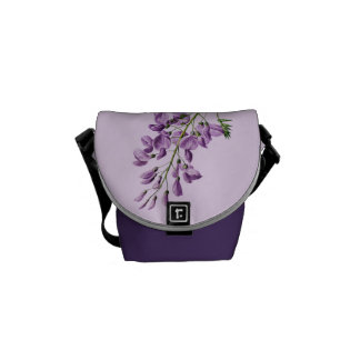 Vintage Wisteria Flower Graphic Commuter Bags