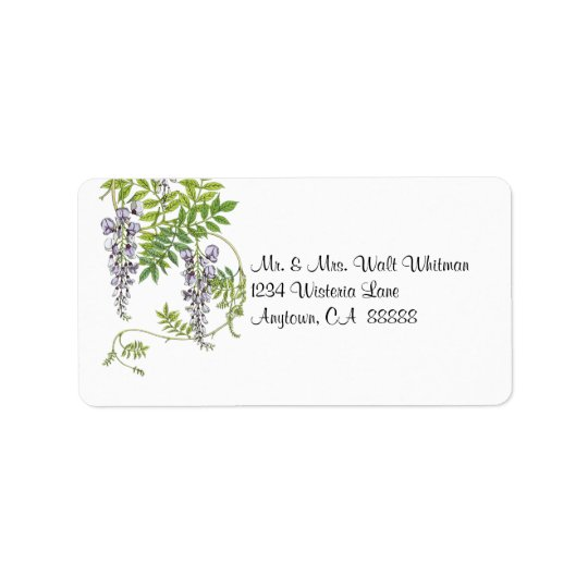 Vintage Wisteria Vine Address Labels