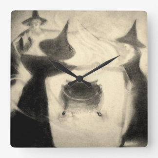 Vintage Witch Clock