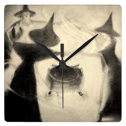 Vintage Witch Clock