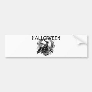 Vintage Witch Halloween Bumper Sticker