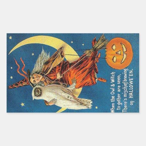 Vintage Witch Halloween Designs Stickers