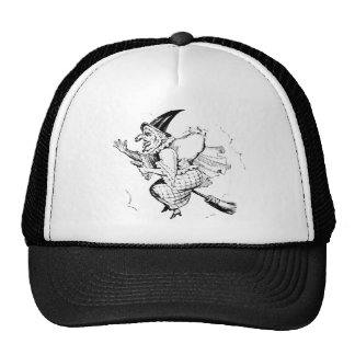 Vintage Witch illustration Trucker Hats