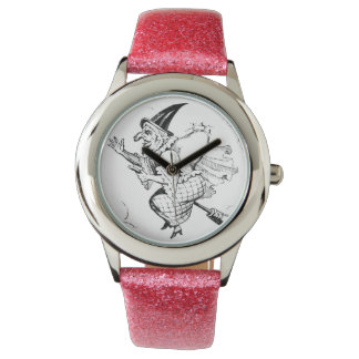 Vintage Witch Illustration Wristwatches
