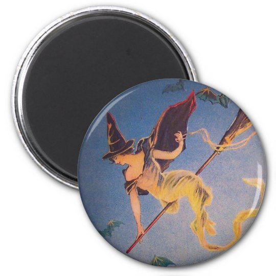 Vintage Witch Magnet