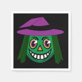 Vintage Witch Napkins Bold Disposable Serviette
