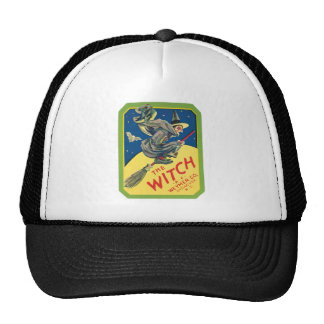Vintage Witch Product Label Art Trucker Hat