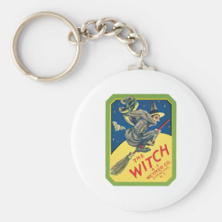 Vintage Witch Product Label Art Keychain