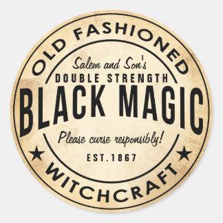 Vintage witches black magic halloween sticker