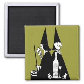 Vintage Witches Brew Alcohol Cauldron Halloween Fridge Magnets