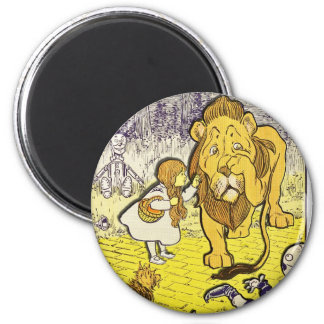 Vintage Wizard of Oz 1st Edition Print 6 Cm Round Magnet