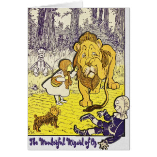 Vintage Wizard of Oz 1st Edition Print Card