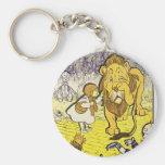 Vintage Wizard of Oz 1st Edition Print Key Chain