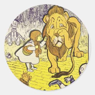 Vintage Wizard of Oz 1st Edition Print Round Sticker