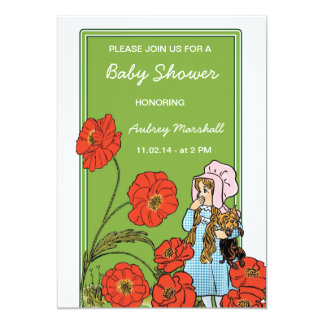 Vintage Wizard of Oz Baby Shower 13 Cm X 18 Cm Invitation Card