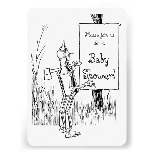 Vintage Wizard of Oz Baby Shower Personalized Announcement