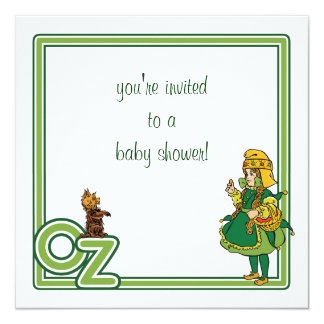 Vintage Wizard of Oz Baby Shower Invitation