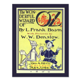 Vintage Wizard of Oz Book Cover Art Birthday Party Card